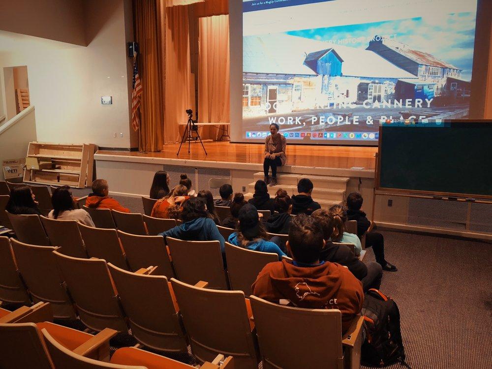 Digital Storytelling Workshop at Bristol Bay High School