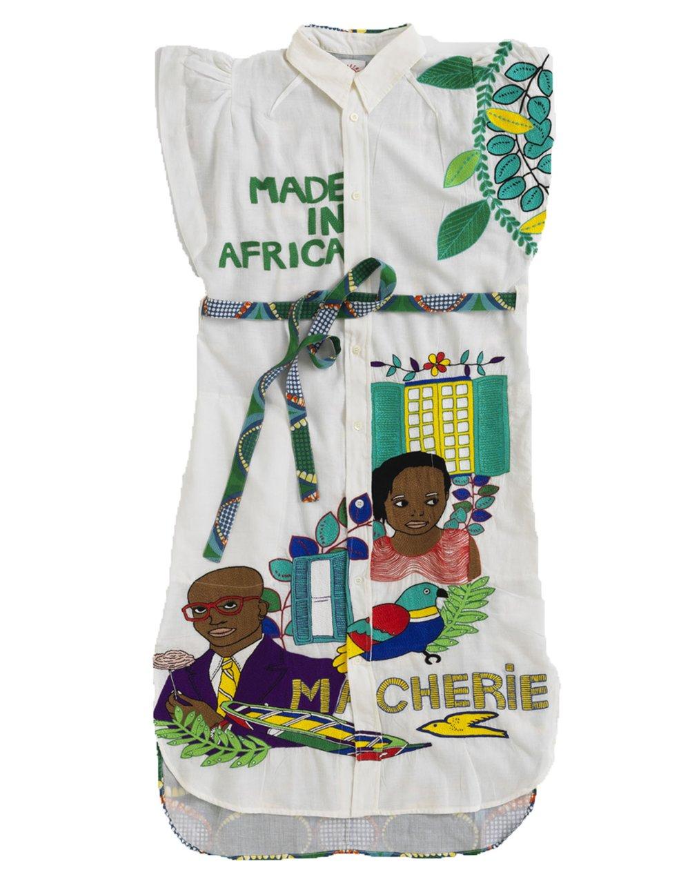 2018 S/S Collection Inspired Dress Shirt with Rue Saint-Joseph, Île de Gorée, Sénégal Design