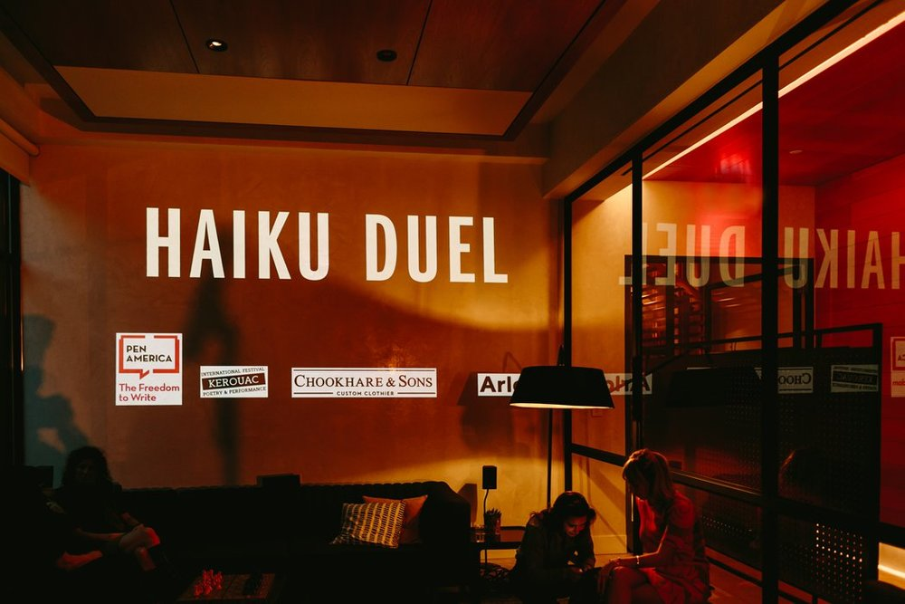 Haiku Duel at Arlo Soho in New York in April 2018