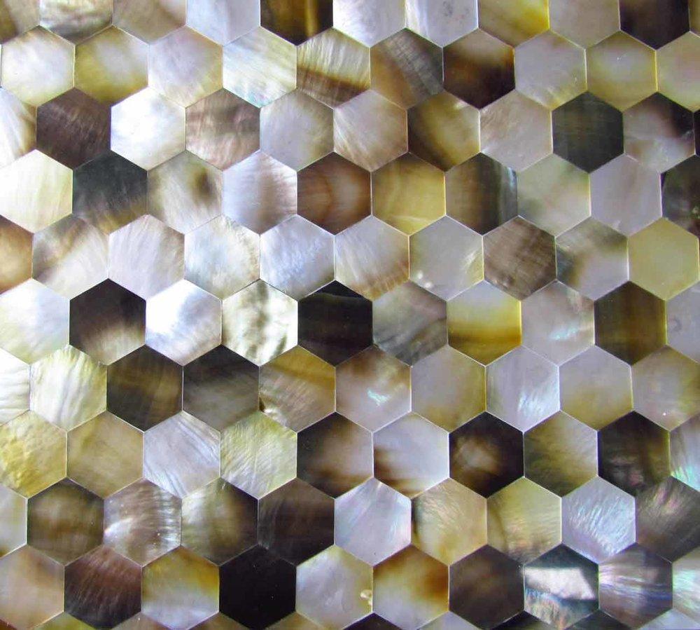 Blacklip Mother of Pearl Beehive Pattern