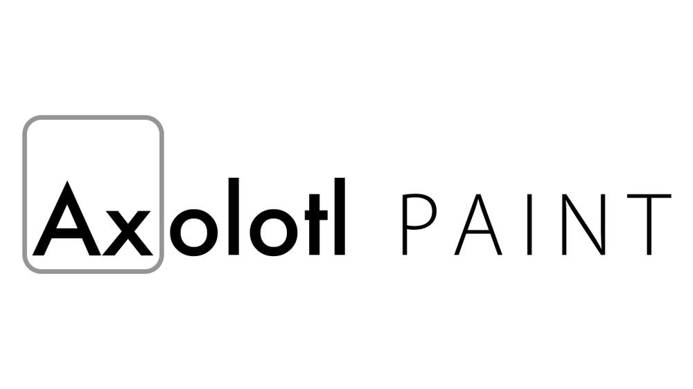 Axolotl paint logo