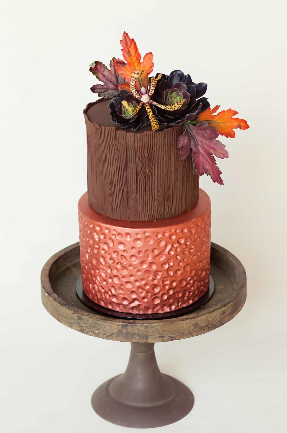 Copper cake with flowers.jpg