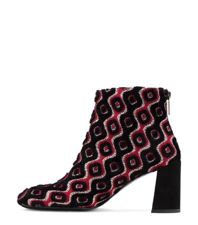 Stuart Weitzman - Embroidered Upper And Subtle Flared Block Heel Bootie