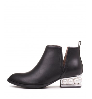 Jeffrey Campbell - Cut-out Bootie With Embellished Heel