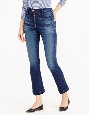 J.Crew - Point Sur Vintage Crop Jean With Exposed Zipper