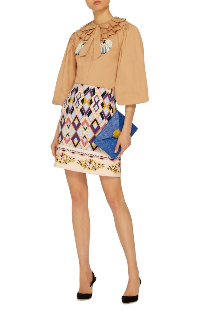 Vivetta - Sharja Printed Mini Skirt
