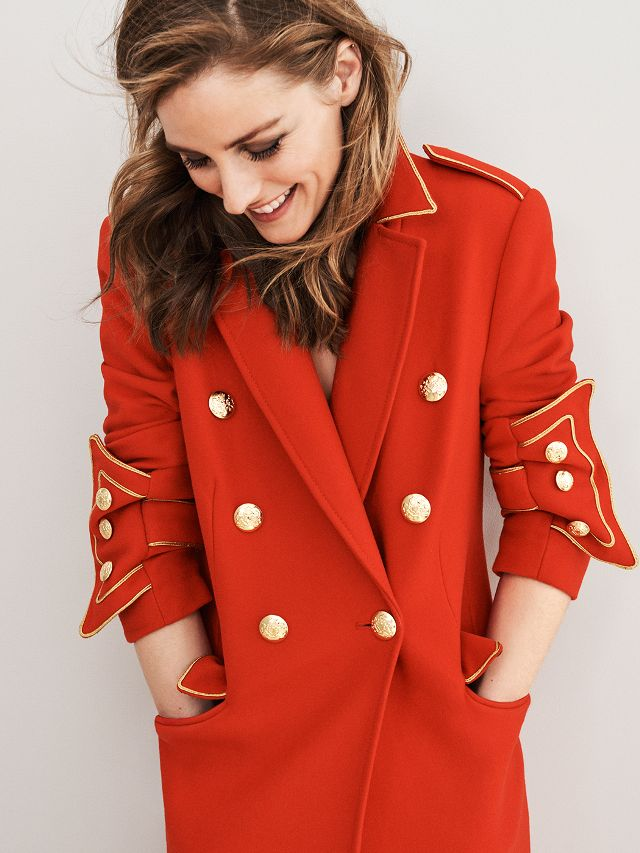 JACKET - A red jacket screams passion and confidence, adding radiance to your look