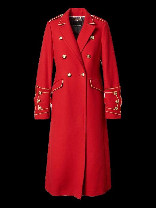 Banana Republic x Olivia Palermo Long Military Coat