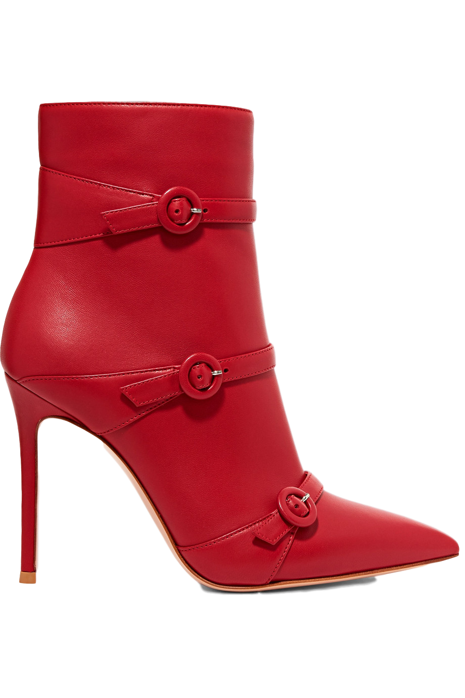 Gianvito Rossi Buckled Leather Ankle Boots