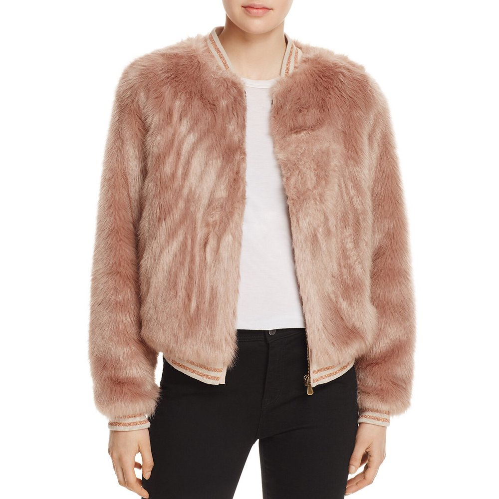 Mother - The Letterman Faux Fur Bomber JacketBomber jackets are always the perfect partner for your petite frame. Opt for a faux fur bomber jacket that gives you a sporty and luxe look and keeps you stylish without sacrificing the warmth!
