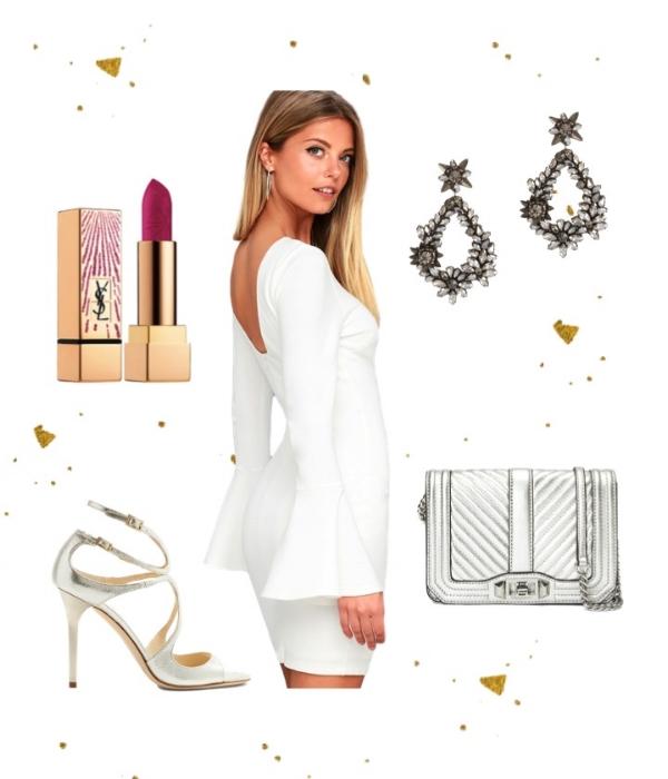 Winter Wonderland - Dress: LulusSandals: Jimmy ChooBag: Rebecca MinkoffEarrings:DEEPA GURNANILipstick: YSL