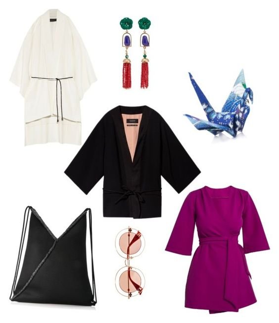 "Short Kimonos - ""Japonica"" style has been enjoying a major comeback with all sorts of mandarin collars and kimono sleeves. Opt for a short kimono either as a top layer or a dress to visually stretch the legs."