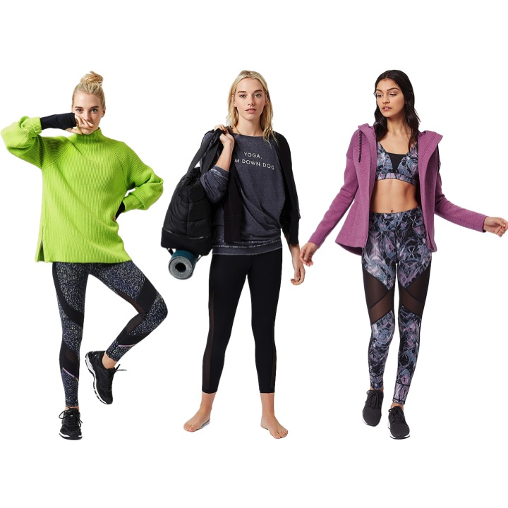 Sweaty Betty - Sweaty Betty, which caters especially to women, sells activewear based on the type of workout you're interested in. They offer leggings in petite length in a variety of colors and prints. The seams hit where they're supposed to instead of cutting across the knee.