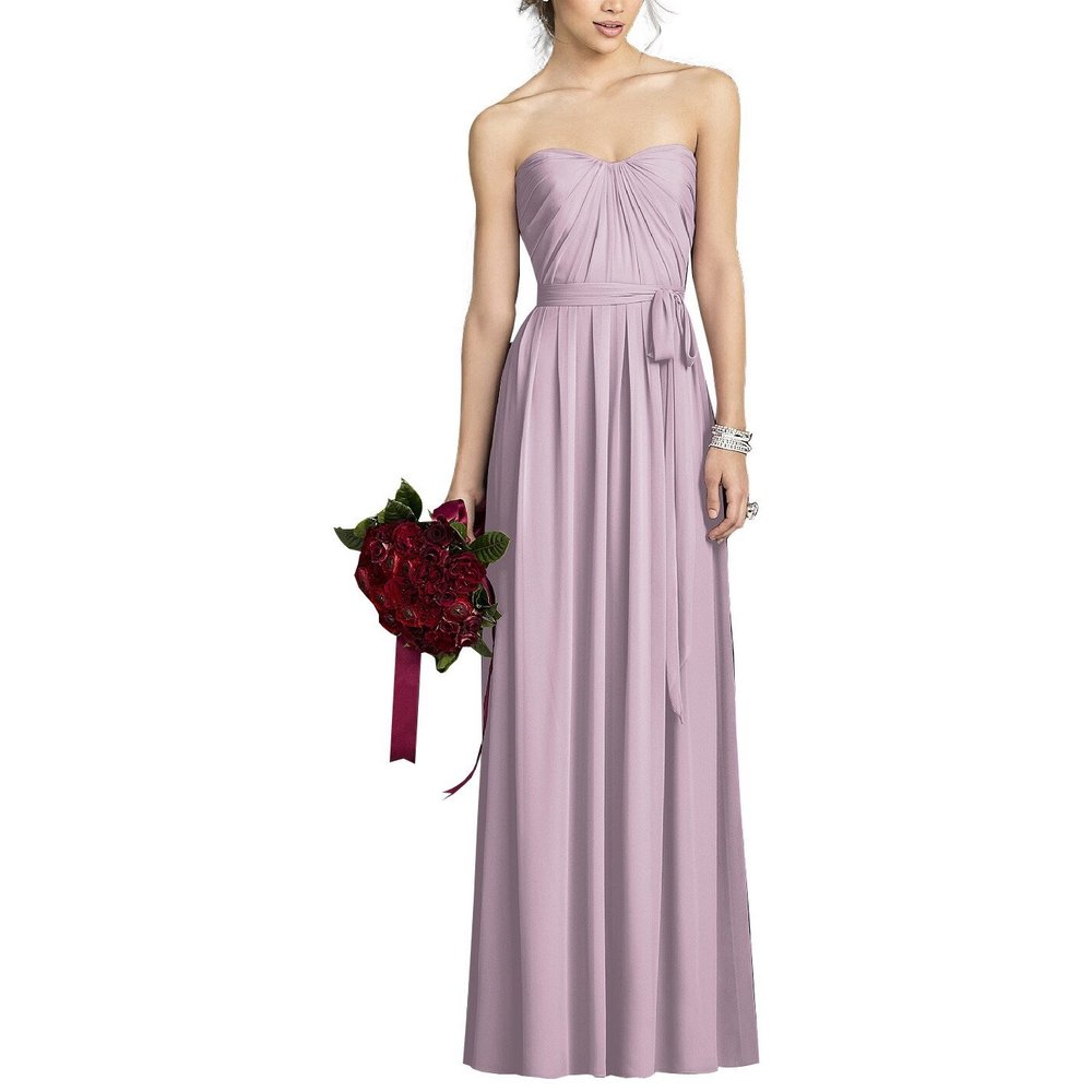 After Six - Size 00 - 30You'll have a major moment in this beautiful lavender strapless dress adorned with a sweetheart neckline and fitted bodice.
