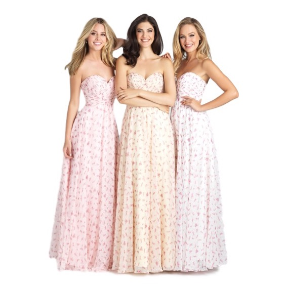 Allure Bridals - Size 2 - 28Channel your inner flower child in this breezy chiffon dress. Ivory, yellow, rose pink... can't decide on the color? Get them all for your bridesmaid squad!
