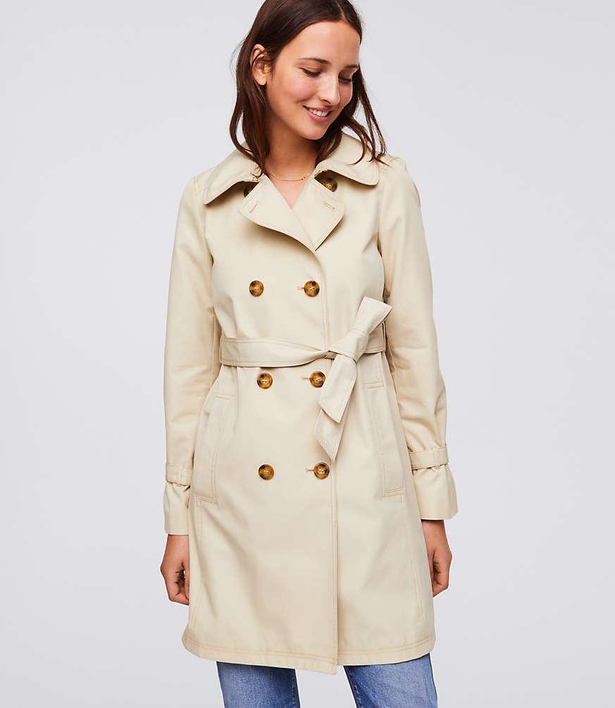 LOFT - Petite Twill Trench Coat