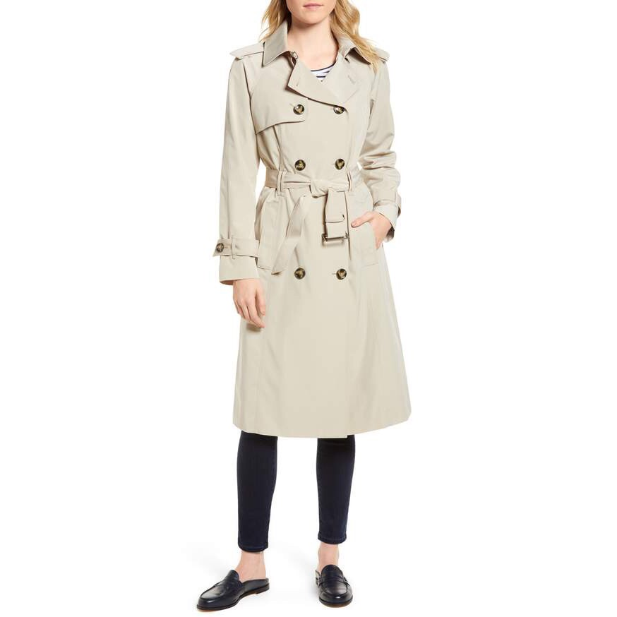 London Fog - Long Double Breasted Trench Coat