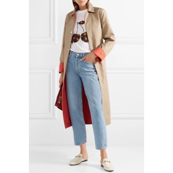 Maje - Reversible Two-Tone Cotton-Gabardine Trench Coat