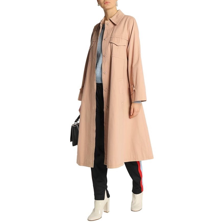 GANNI - Cotton-Twill Trench Coat