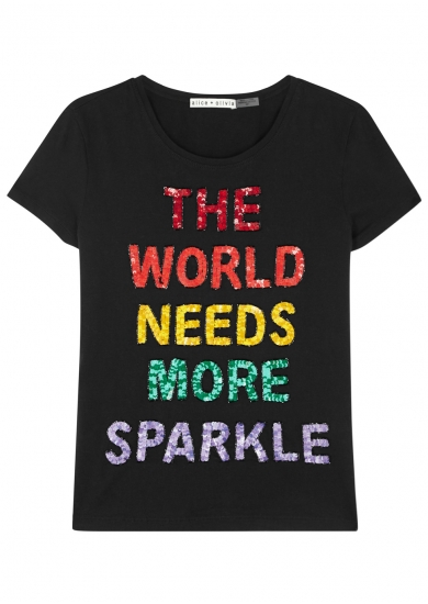 A sequin top on a Monday?  -