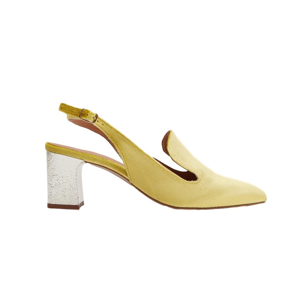 Intentionally Blank - Kina in Champagne Slingbacks