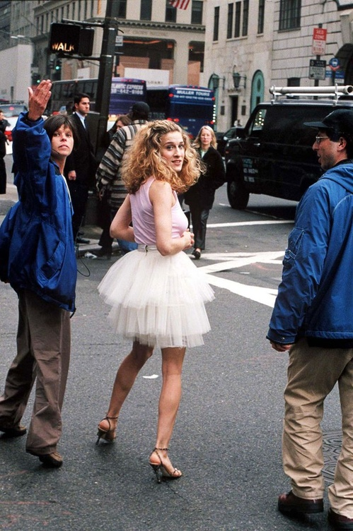 The tutu skirt can be considered the real star of the show: it appeared in the opening credits for every episode as Carrie strolls the streets of Manhattan.