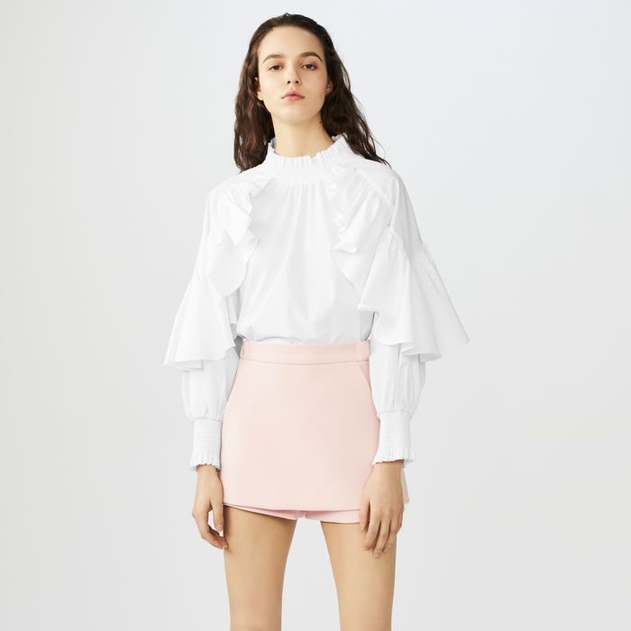 Maje - Crepe SkortExtending the Parisian label's penchant for delicate design and modern silhouettes, this skort is a wardrobe staple for easily teaming with anything.