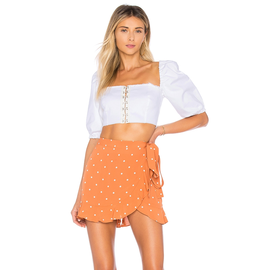 For Love & Lemons - Natalia Dot SkortThis polka dot skort looks great with a white crop top or the matching top.