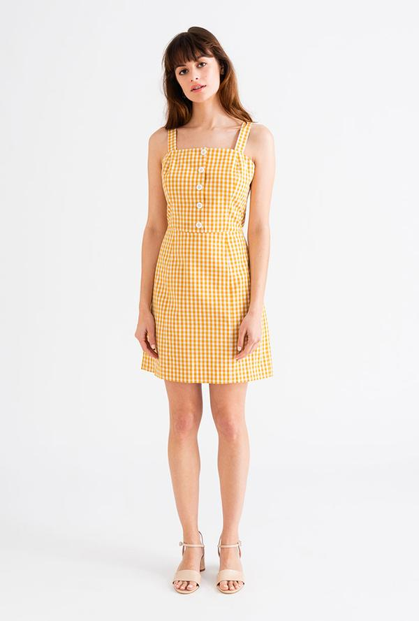 Petite Studio - Poppy DressThis lightweight, vintage gingham mini dress is perfect for a day in the city or a day at the beach.