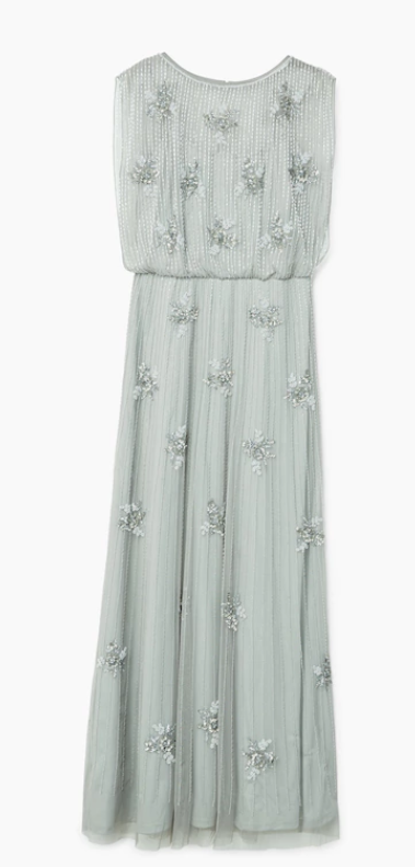 Mango  - Crystal Tulle Dress