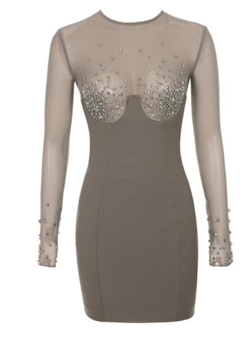 House of CB - Crystal Bodycon Dress
