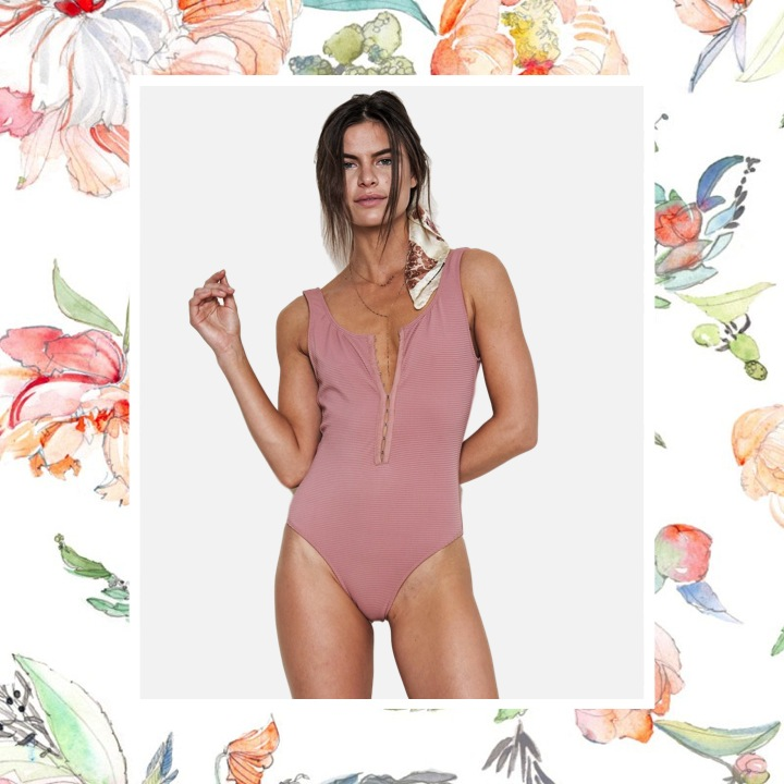 Juillet - Cheryl One Piece – Rose DawnFeatured in a '70s inspired cut with hook-and-eye closures down the front, the Cheryl One Piece is in an easy and effortless rib.
