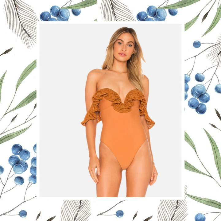 Tularosa - Oh So Sweet One PieceSassy one-piece swimsuit finished with crochet trim for a flirty touch.