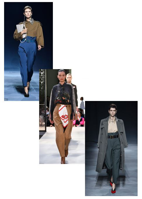 HIGH PAPER BAG - Your typical paper bag trousers are getting upgraded in 2019 to a high waist tailored affair. Still keeping its relaxed slouchy feel while creating a long-legged and pulled together look for Petites.