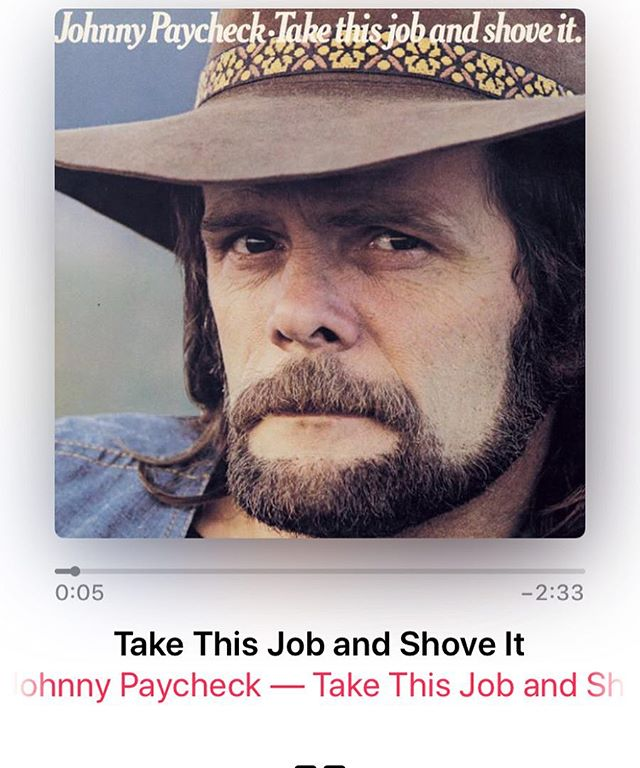 Monday's theme song goes to Mr. Johnny Paycheck! #outlawmusic #countrymusic #takethisjobandshoveit #johnnypaycheck #drinkingonmonday