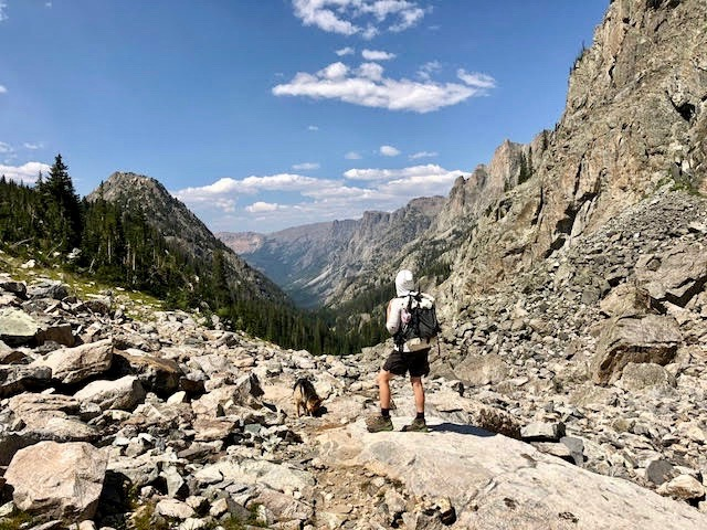 Hiking back down from Dale Lake to Vista Pass.