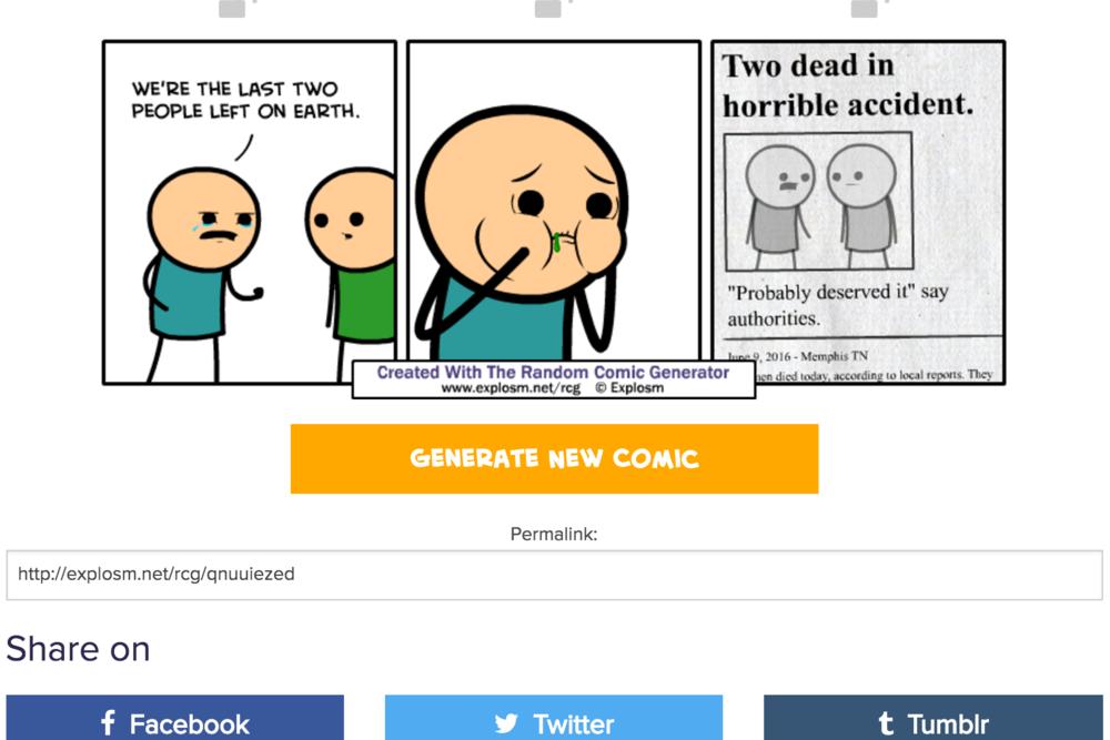 Explosm - Random Comic Generator