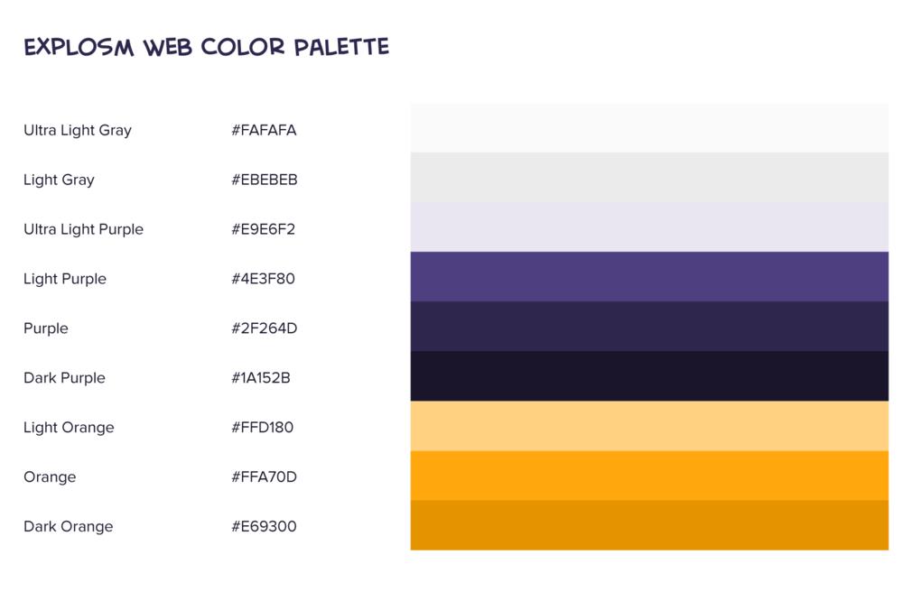 Explosm - Web Color Palette