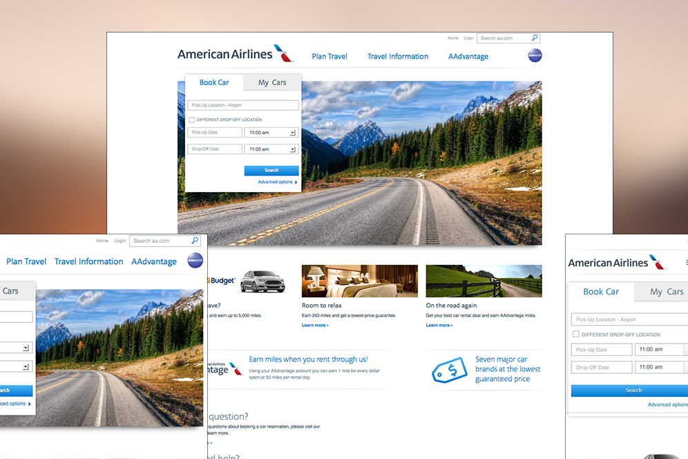 American Airlines - Leading the Way to Responsive Design