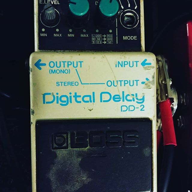 Here's another for you guitar nerds. I bought this secondhand in about 1995. It's been on and off my board since. The post on the right got ripped off the circuit board in Europe on a Gaslights tour in the mid 2000's. Drunken Dutchman kicked it by mistake. I'll be damned if it doesn't just sound better to me than anything else. Maybe its the miles together.