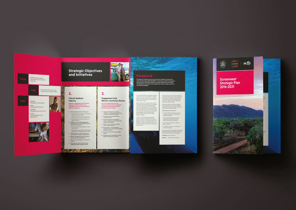 Screenwest – Trifold Brochure