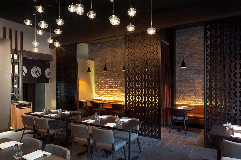 Edosei Japanese Restaurant – Interior and 'No-Ren' Curtain