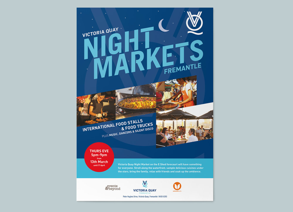 Victoria Quay – Night Markets Poster