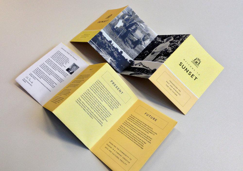 Sunset Heritage Precinct – Opening Brochure