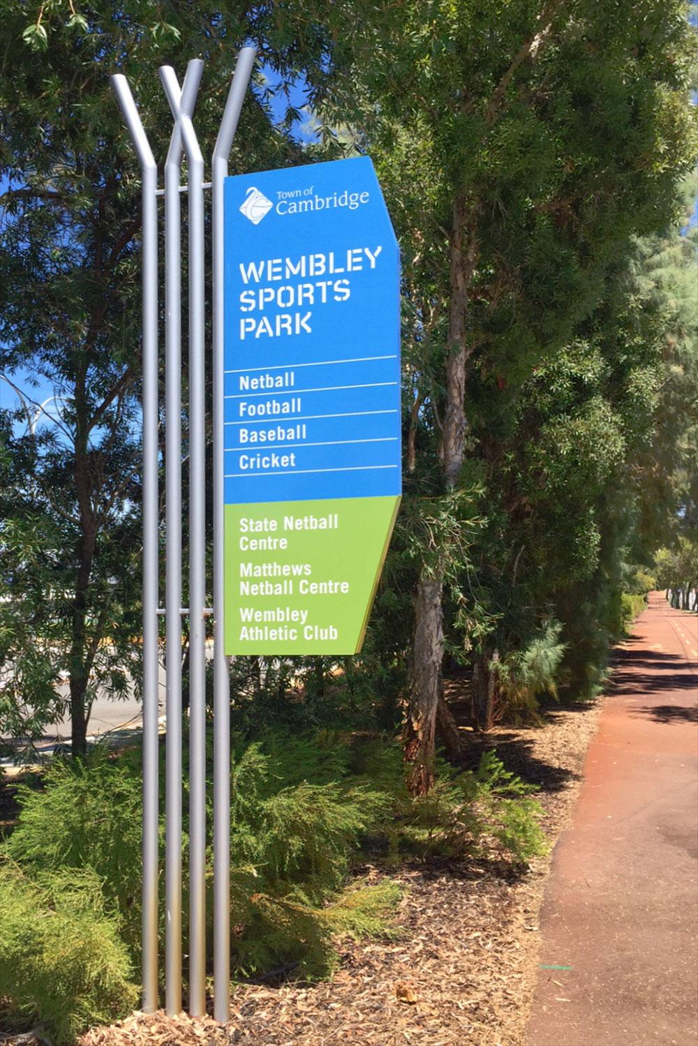 Wembley Sports Park – Signage