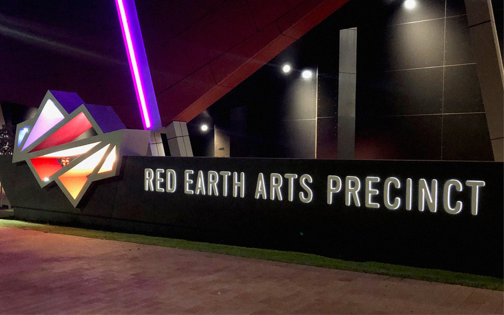 Red Earth Arts Precinct – Main Feature Sign
