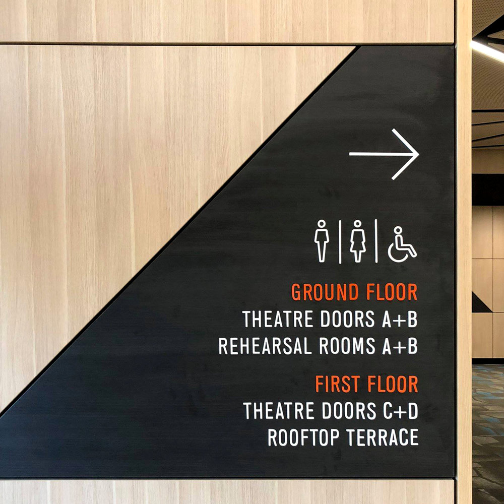 Red Earth Arts Precinct – Internal Signage