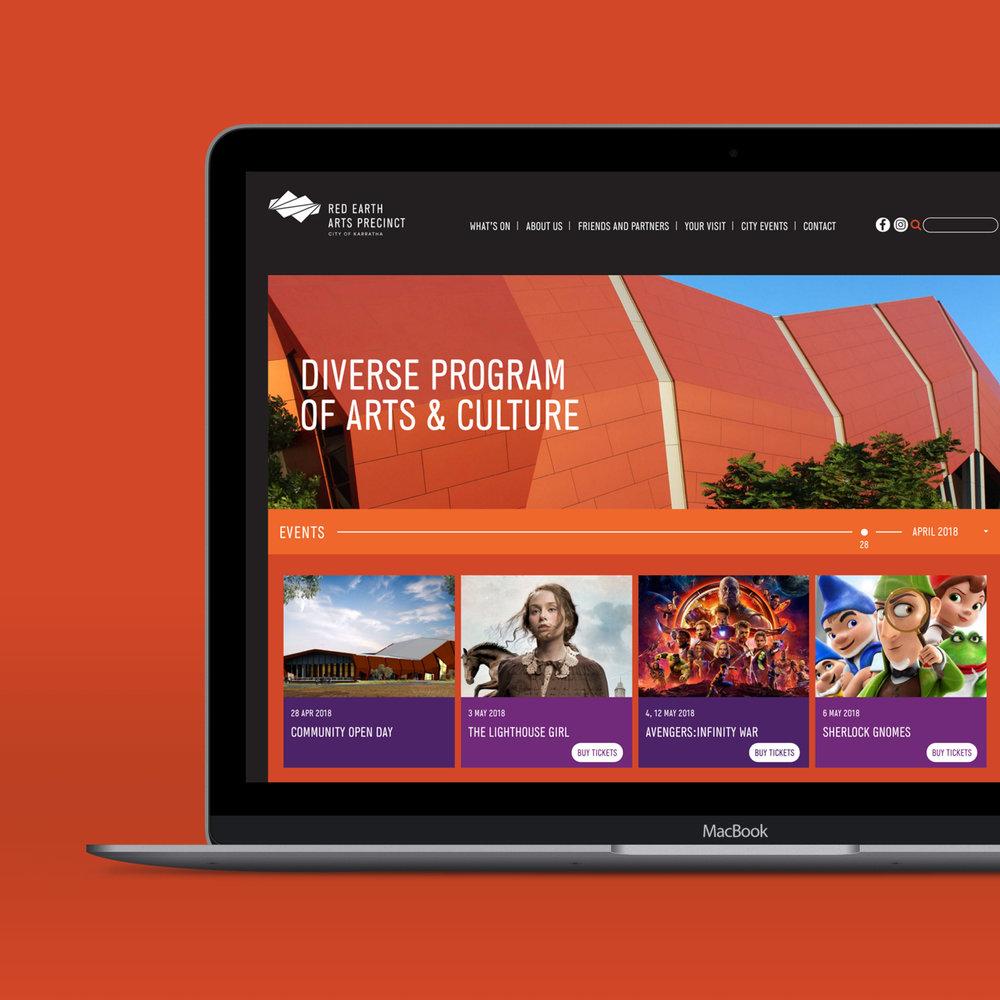 Red Earth Arts Precinct – Website