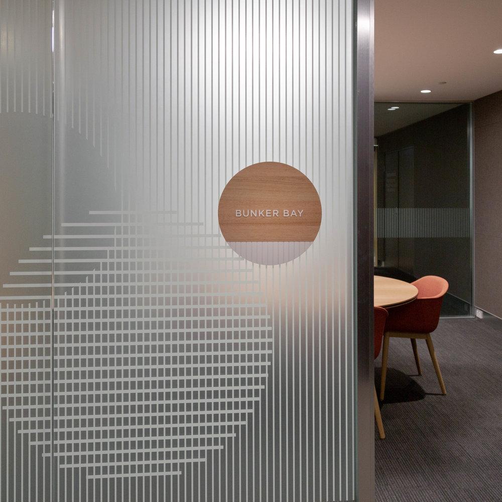Allen & Overy– Interior glazing signage