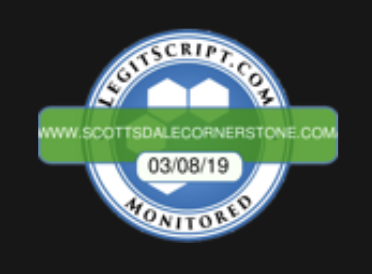 Cornerstone Healing Center is LegitScript Certified